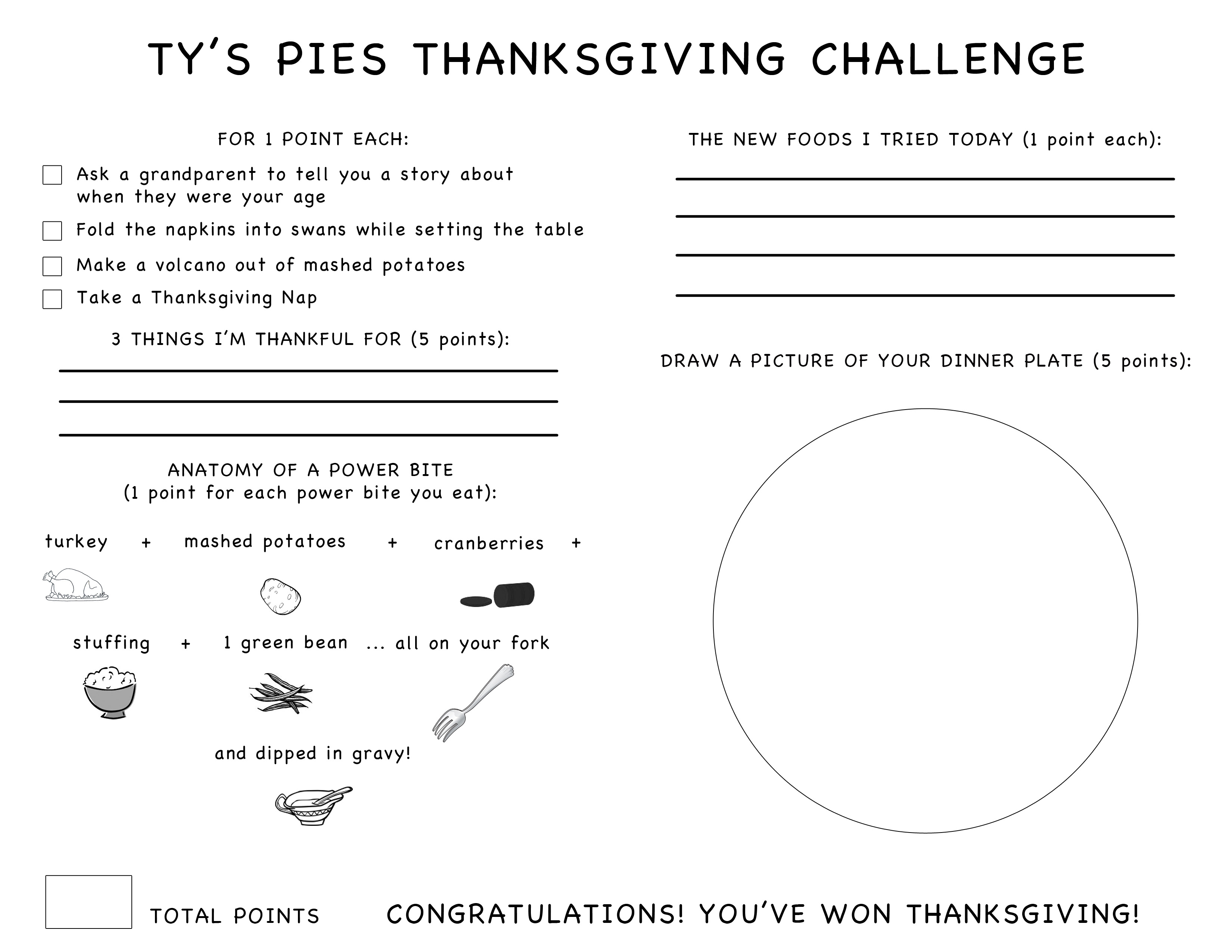 Ty's Thanksgiving Challenge
